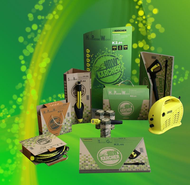 <p>家庭用高圧清浄機のパッケージデザイン</p>