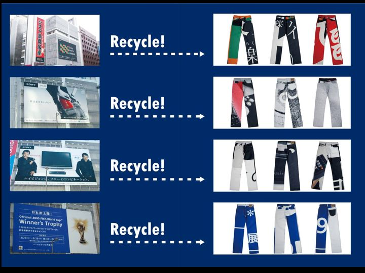 <p>SonyRecycleProjectJeans</p>
