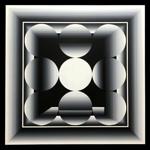 <p>Nine circles (2017, 1500x1500mm)</p>