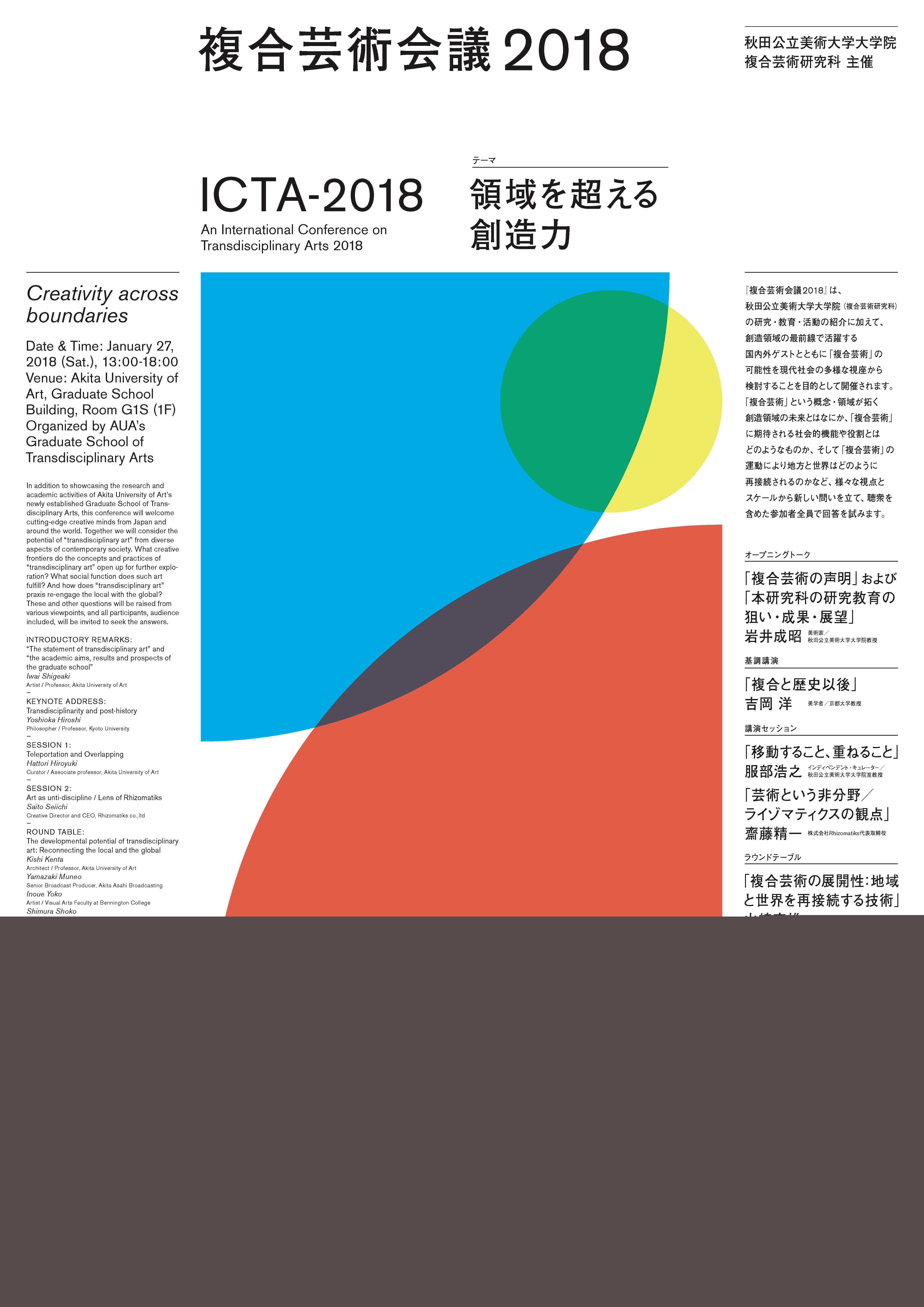 複合芸術会議2018 (ICTA2018)