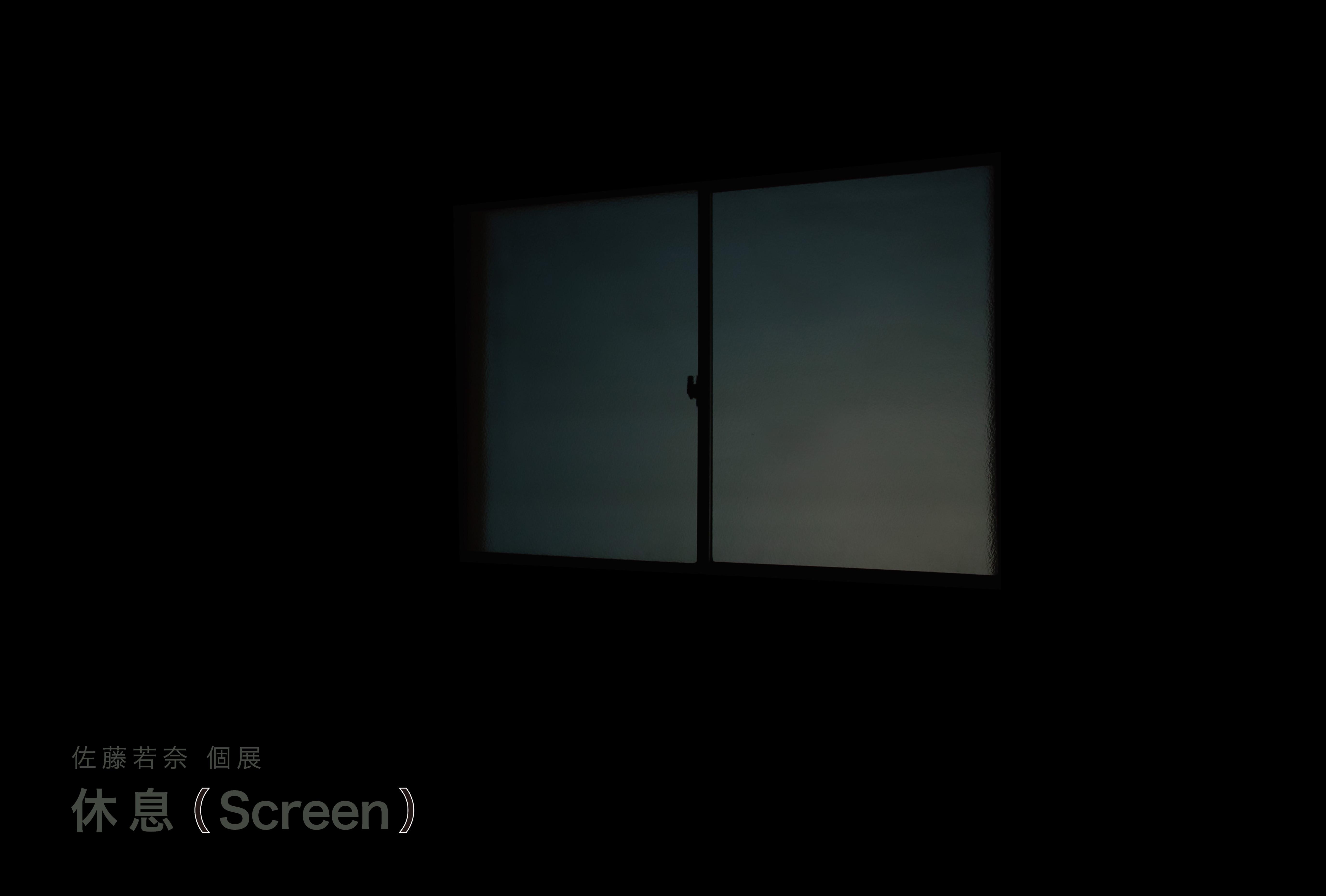 個展「休息(Screen)」